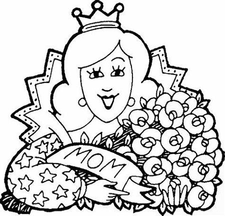 Mothers Day Coloring Pictures For Kids