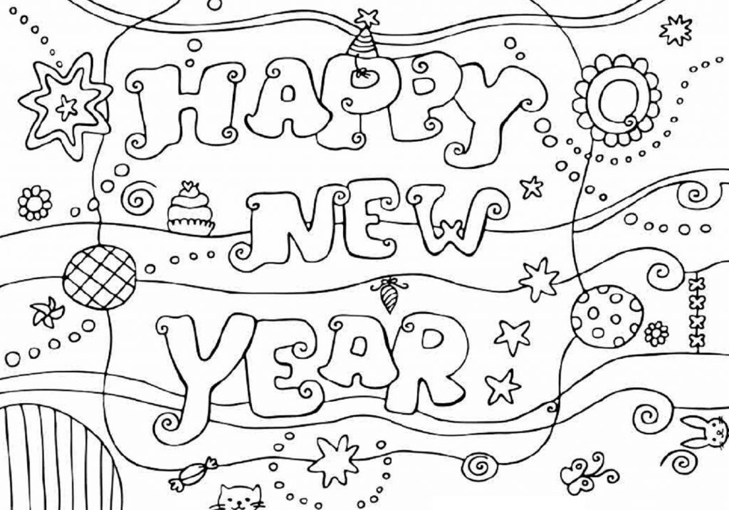 New Years Coloring Pages Celebration