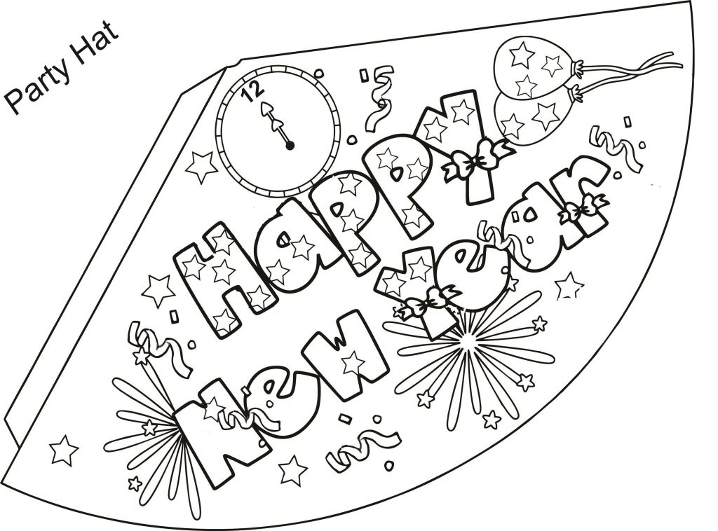 New Years Coloring Pages Party