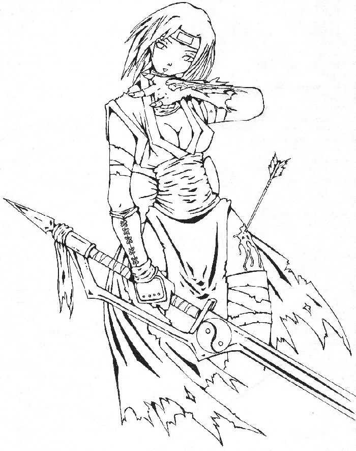 Ninja Coloring Pages Girl