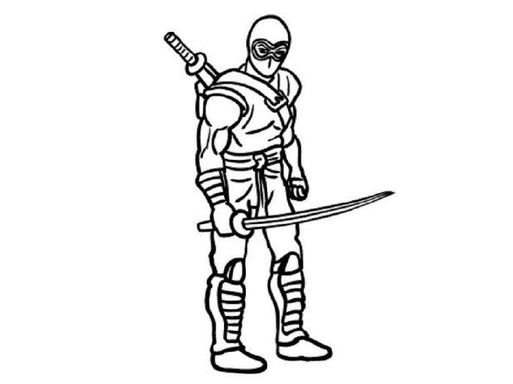 Ninja Coloring Pages Ninja Warrior