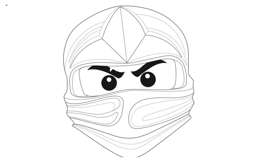 Ninja Coloring Pages With Mask