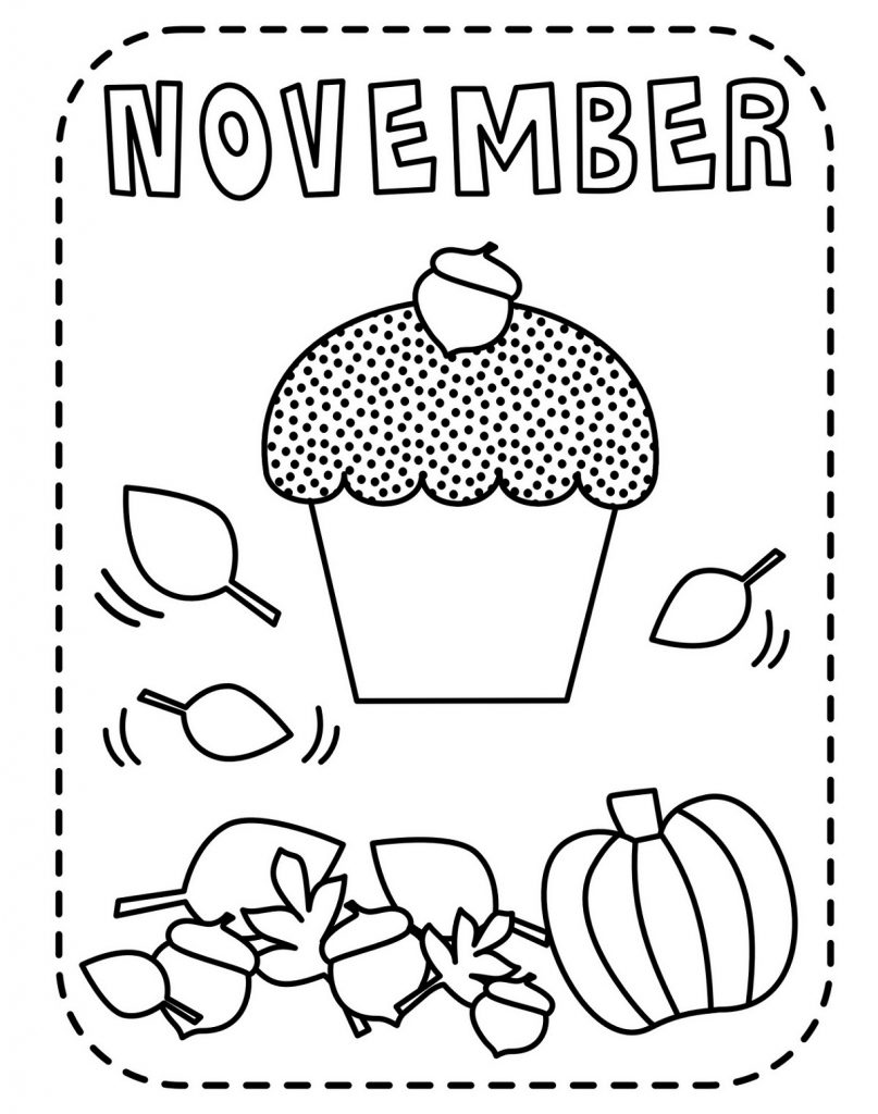 November Coloring Pages Simple