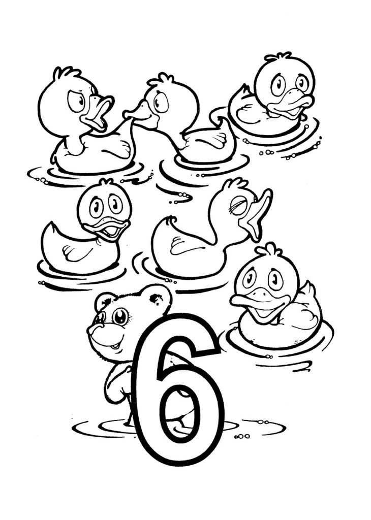 Number Coloring Pages Animals