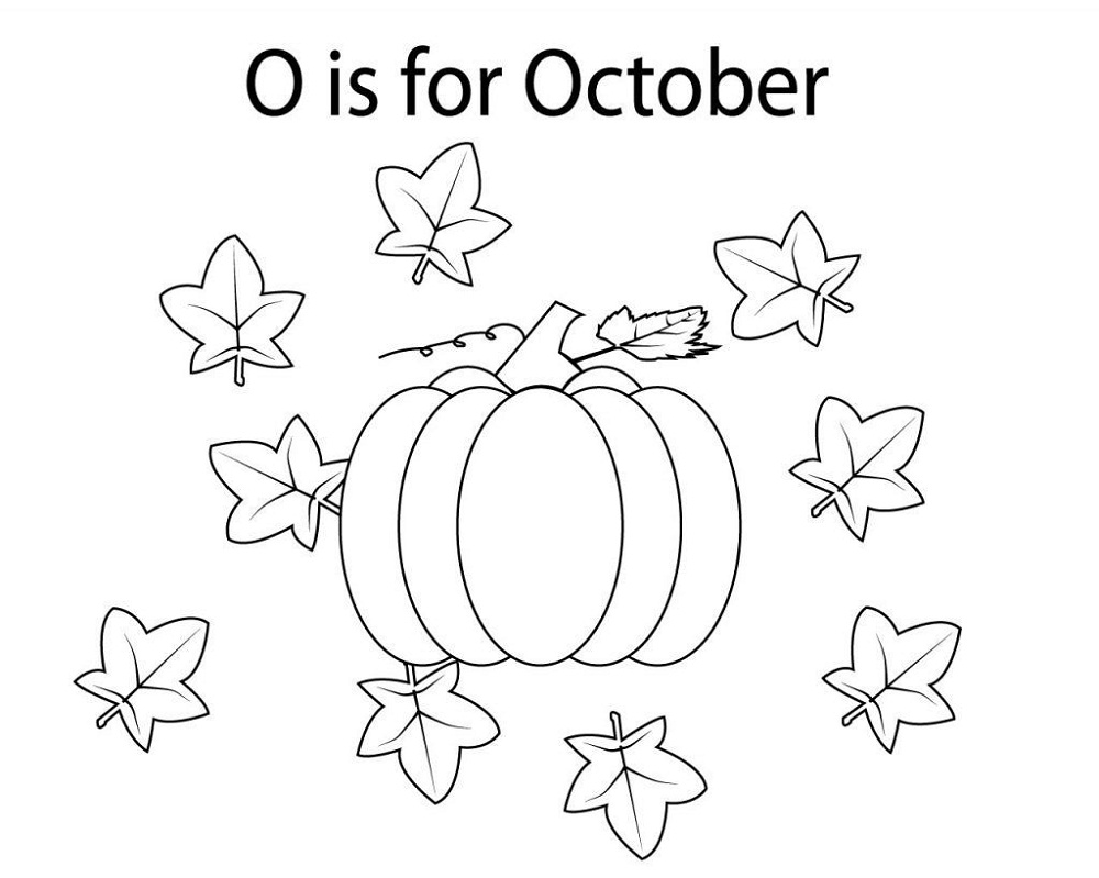 October Coloring Pages Autumn
