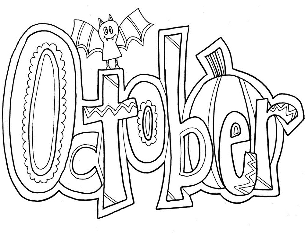 October Coloring Pages Doodle
