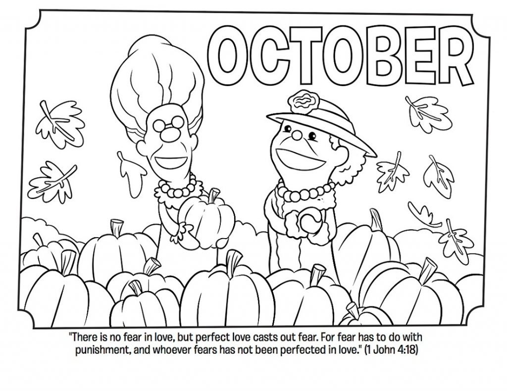 October Coloring Pages Easy