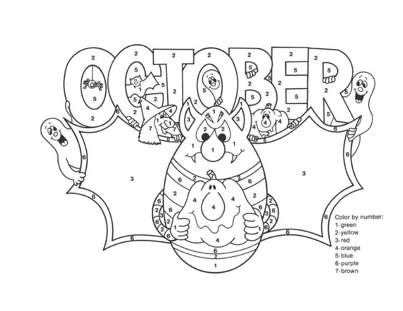 October Coloring Pages Fun