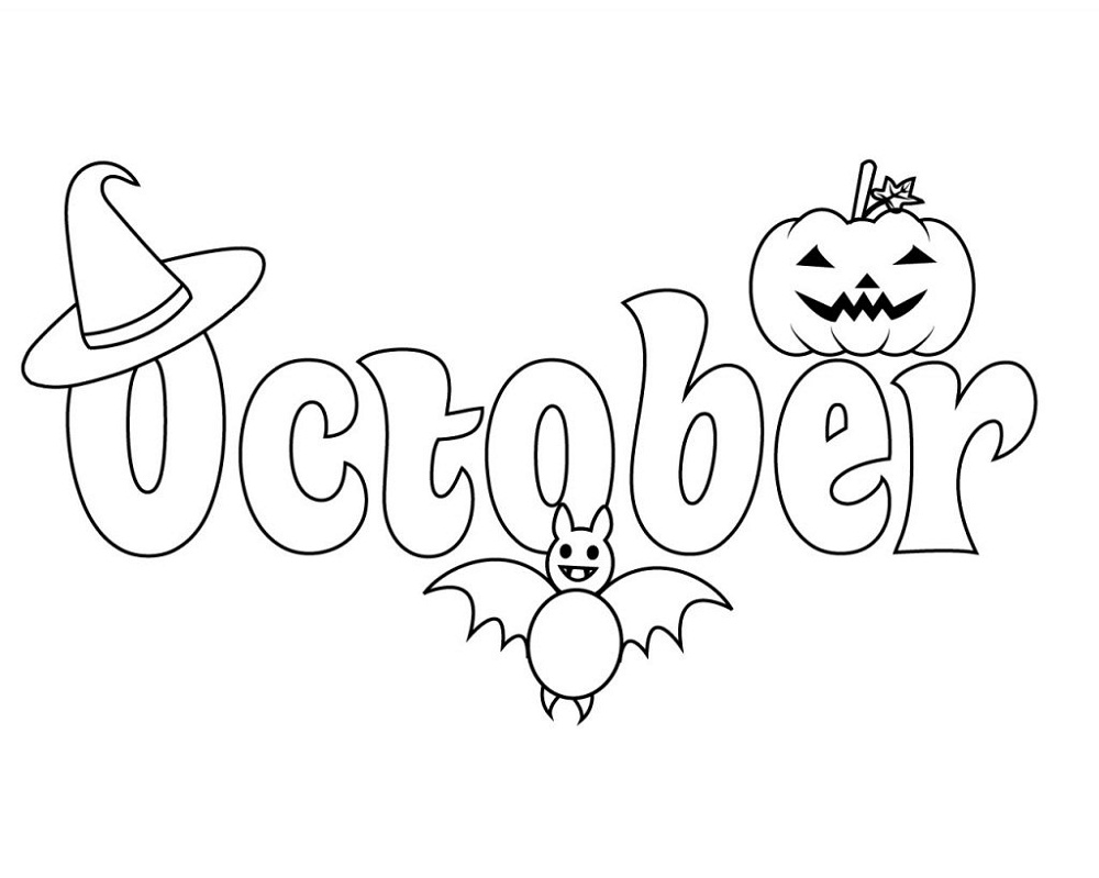 October Coloring Pages Halloween