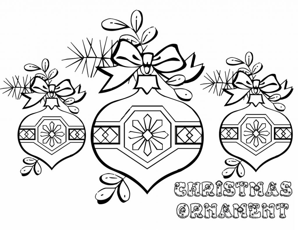 Ornament Christmas Tree Pictures To Color