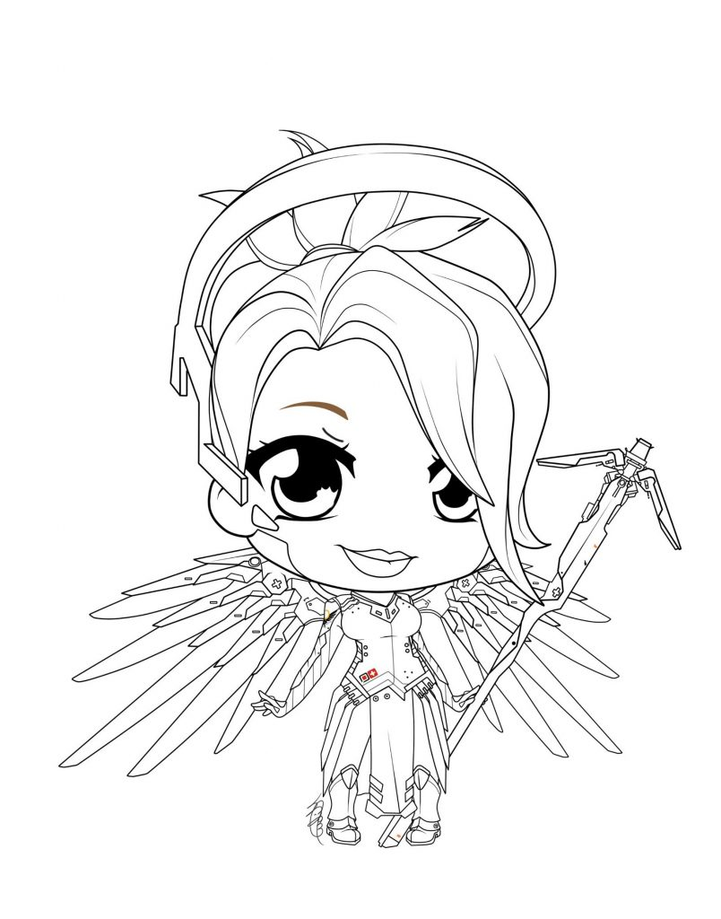 Overwatch Coloring Pages Chibi