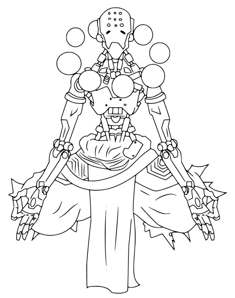 Overwatch Coloring Pages Easy