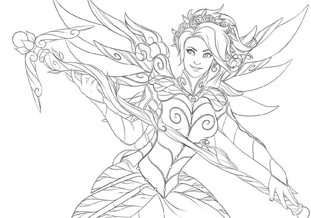 Overwatch Coloring Pages Mercy