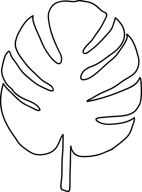 Palm Leaf Coloring Pages