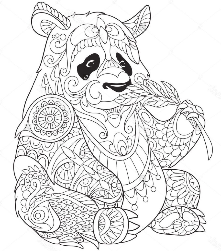 Top 25 Free Printable Cute Panda Bear Coloring Pages Online | 1024x904
