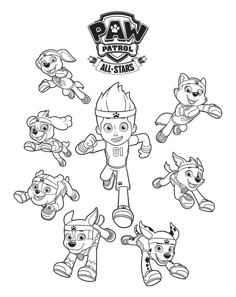 Paw Patrol Coloring Sheets For Kids