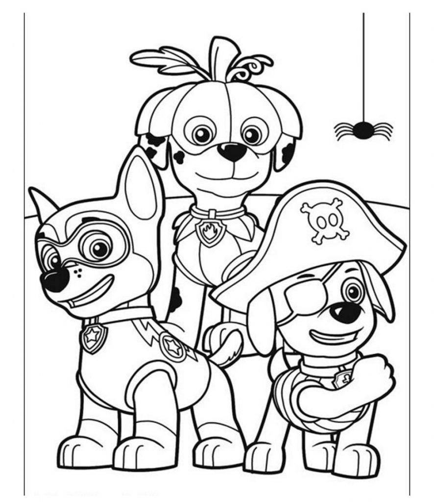 Paw Patrol Coloring Sheets Halloween