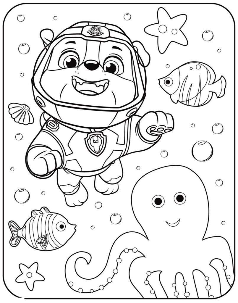 Paw Patrol Coloring Sheets Preschool