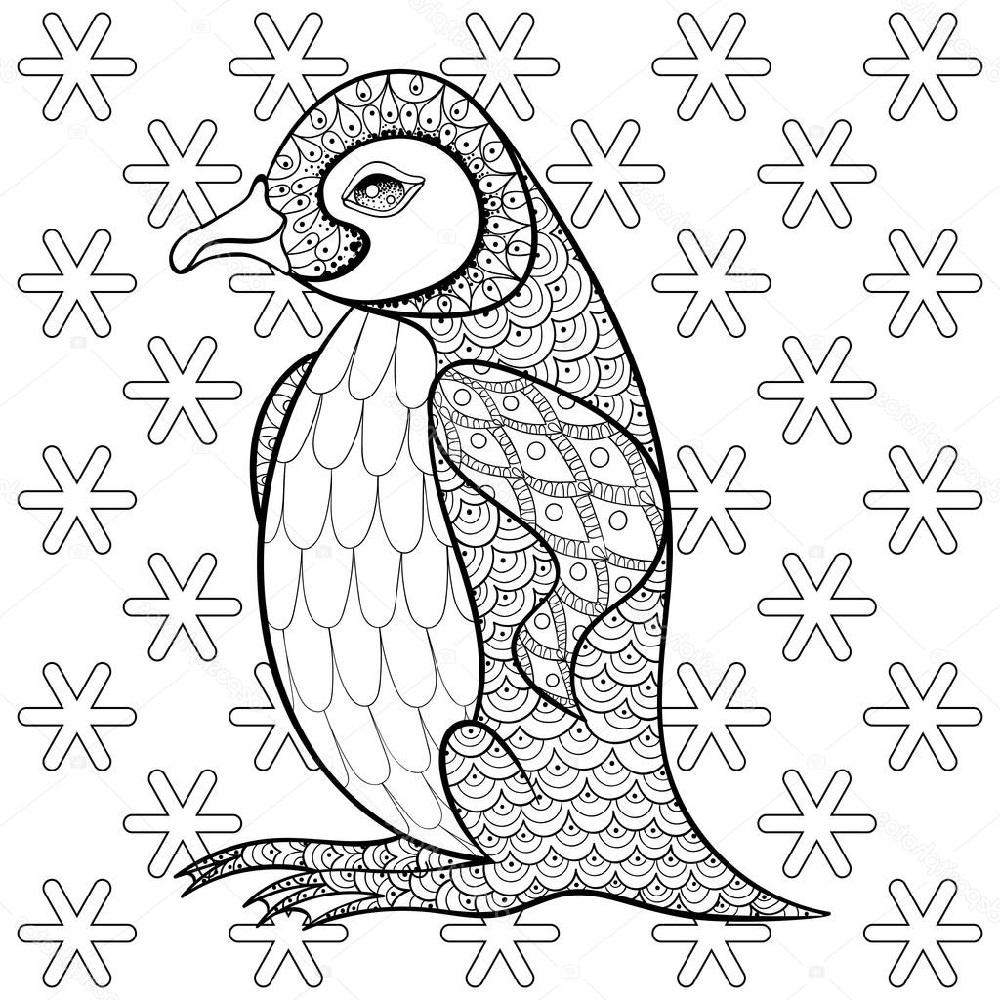 Penguin Coloring Pages Doodle