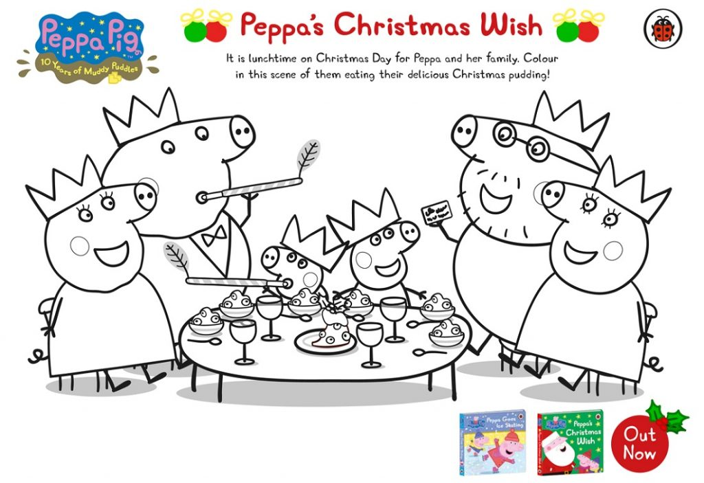 Peppa Pig Coloring Pages Christmas