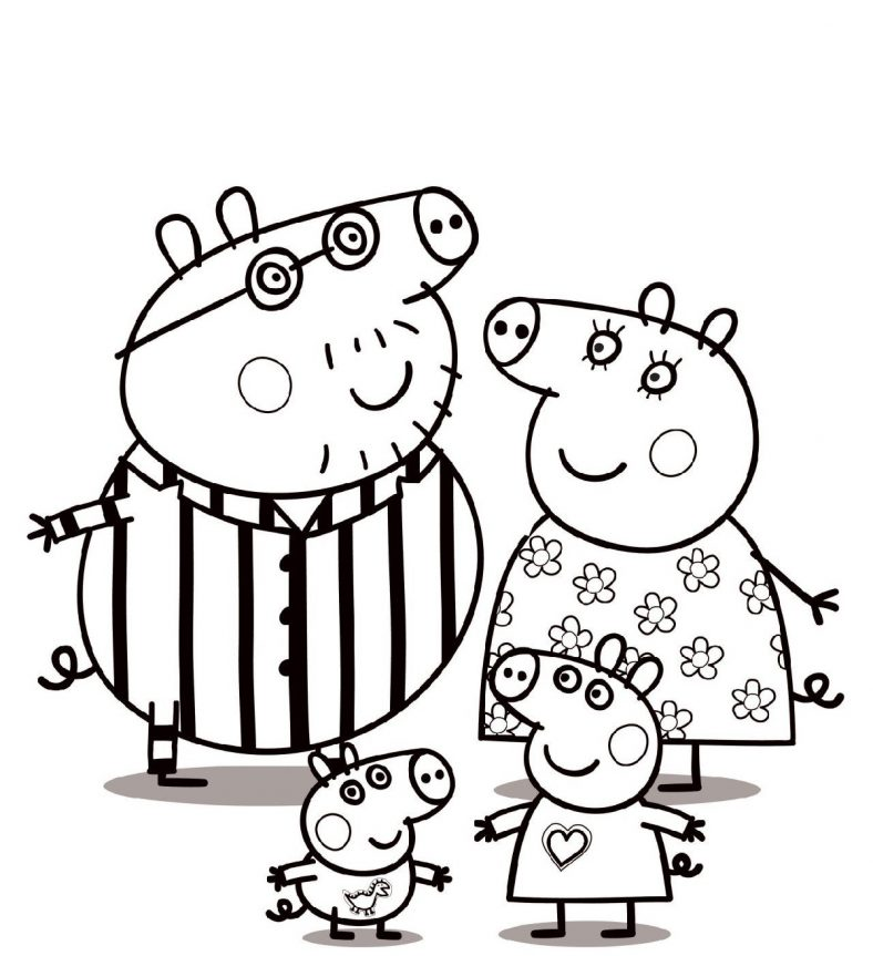 Peppa Pig Coloring Pages Printable and Free Archives | 101 Coloring