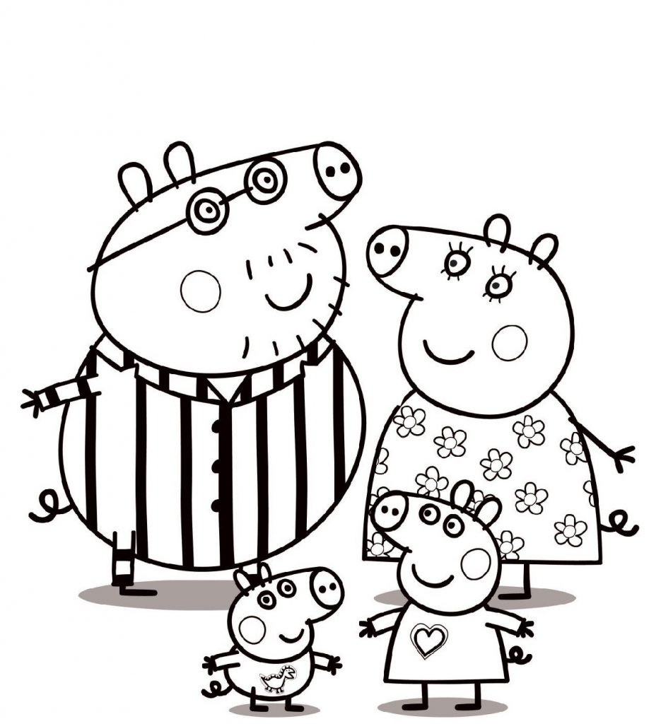 Peppa Pig Coloring Pages Nick Jr