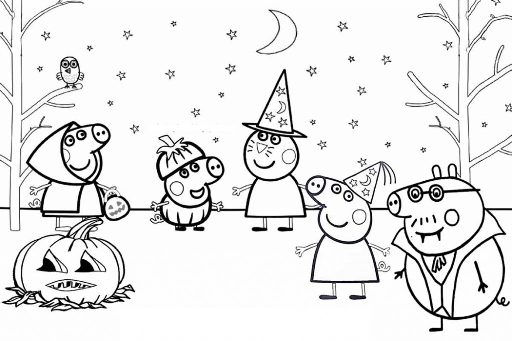 Peppa Pig Colouring Halloween
