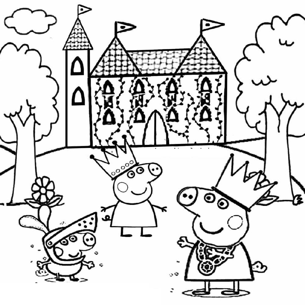 Peppa Pig Colouring Sheets Cartoon