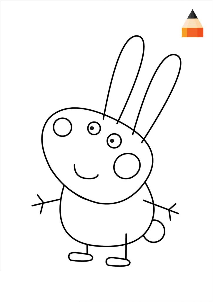 Peppa Pig Colouring Sheets For Kids