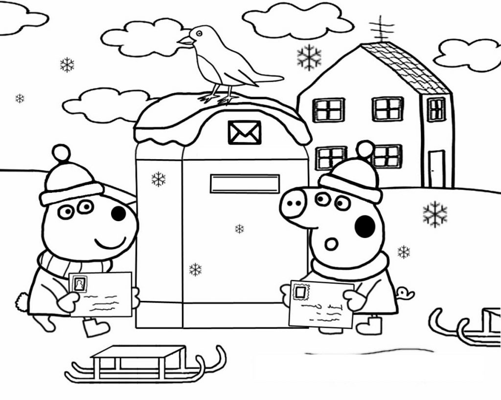 Peppa Pig Colouring To Print