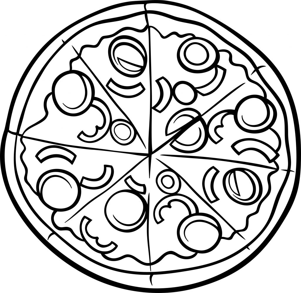Pizza Coloring Pages Delicious