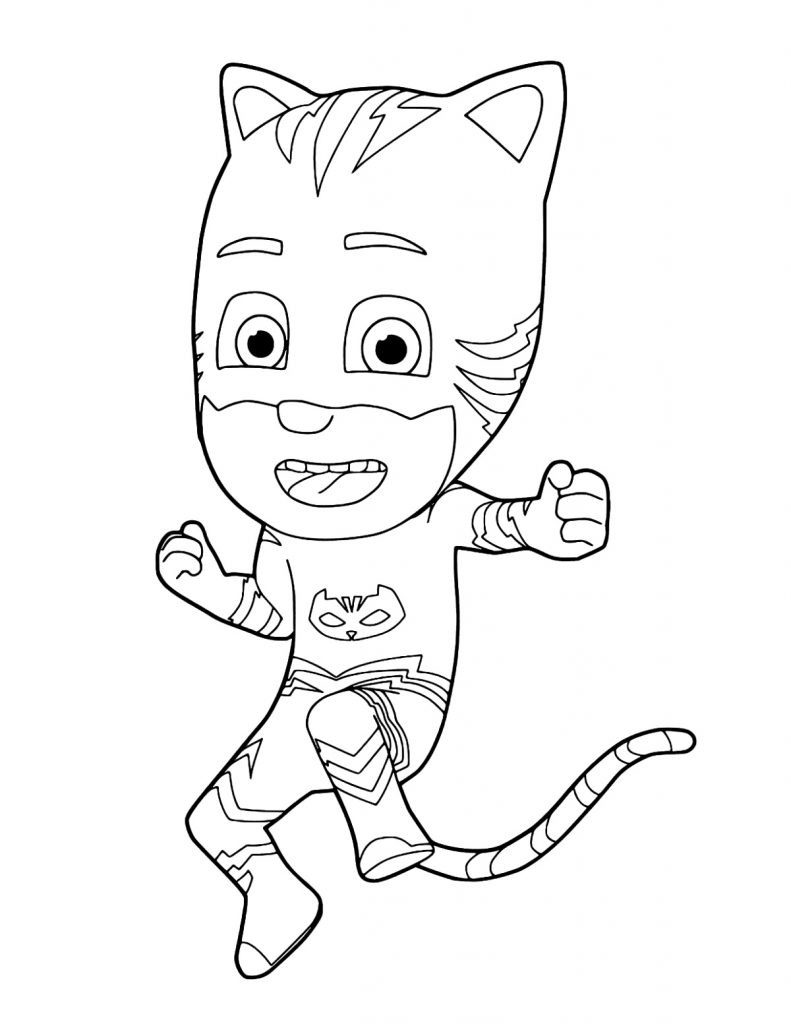Catboy Pj Masks Pages Coloring Pages
