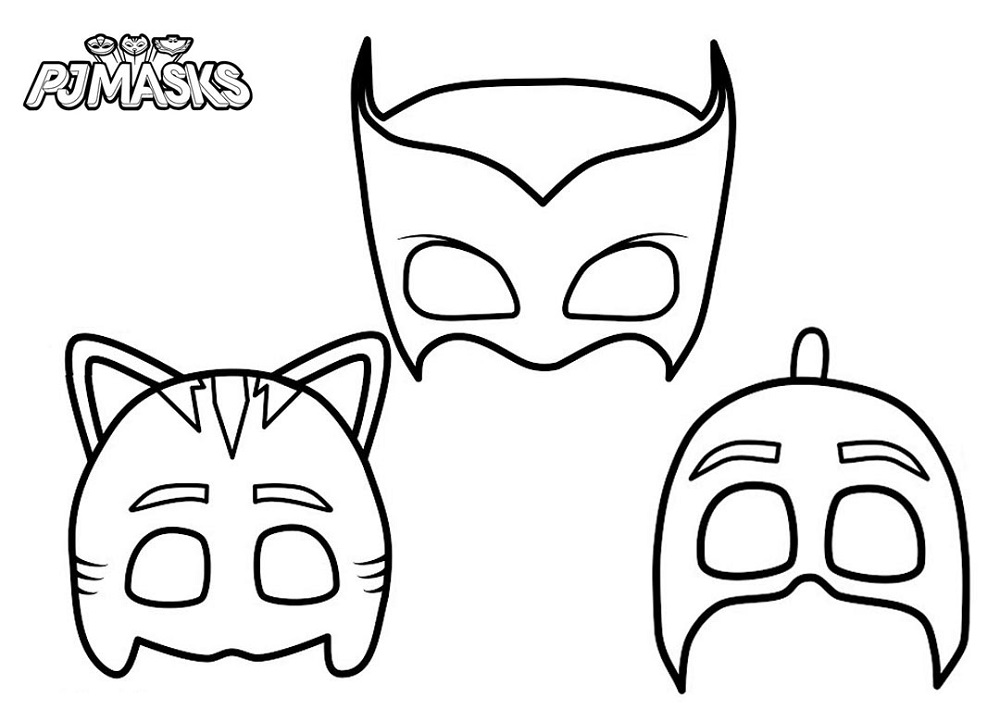 Pj Masks Coloring Pages Masks