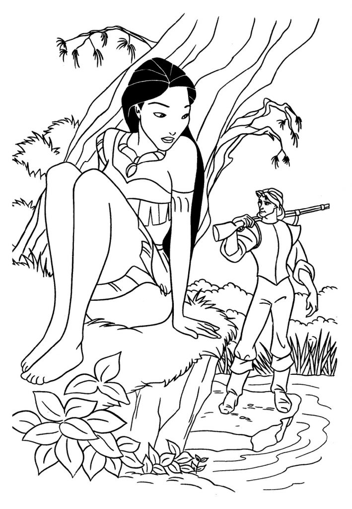 Pocahontas Coloring Pages Disney