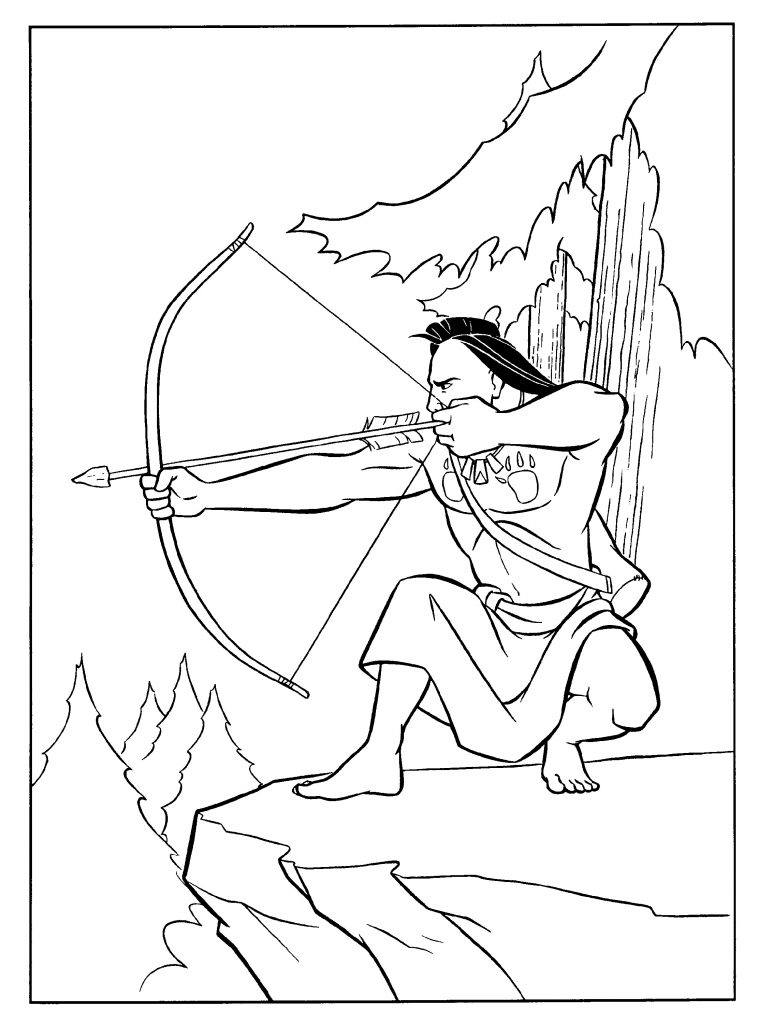 Pocahontas Coloring Pages Indian