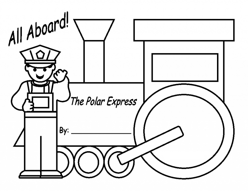 Polar Express Coloring Pages For Kids