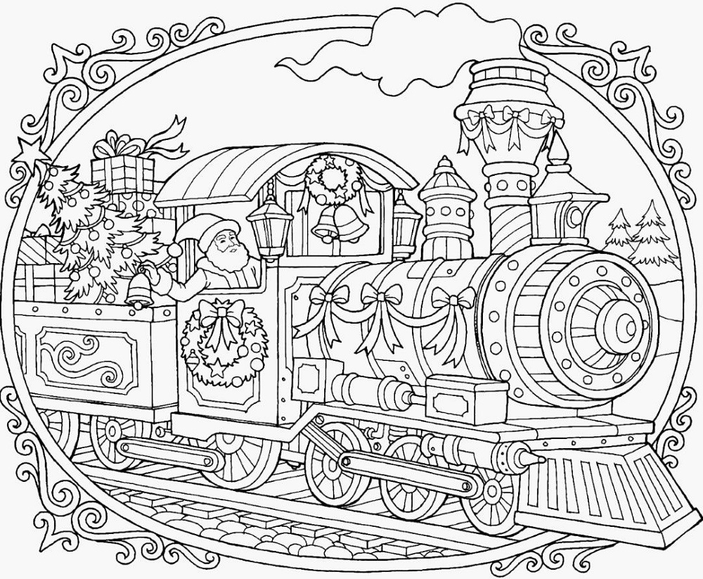Polar Express Coloring Pages Free
