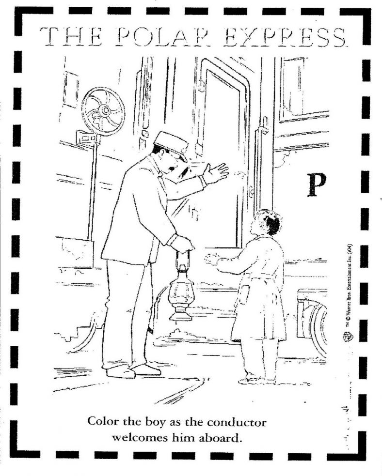 Polar Express Coloring Pages Movie