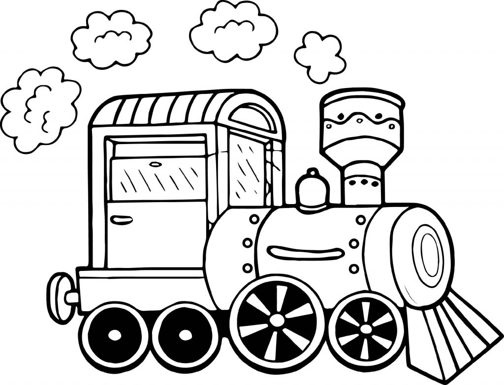 Polar Express Coloring Pages Steam Engine