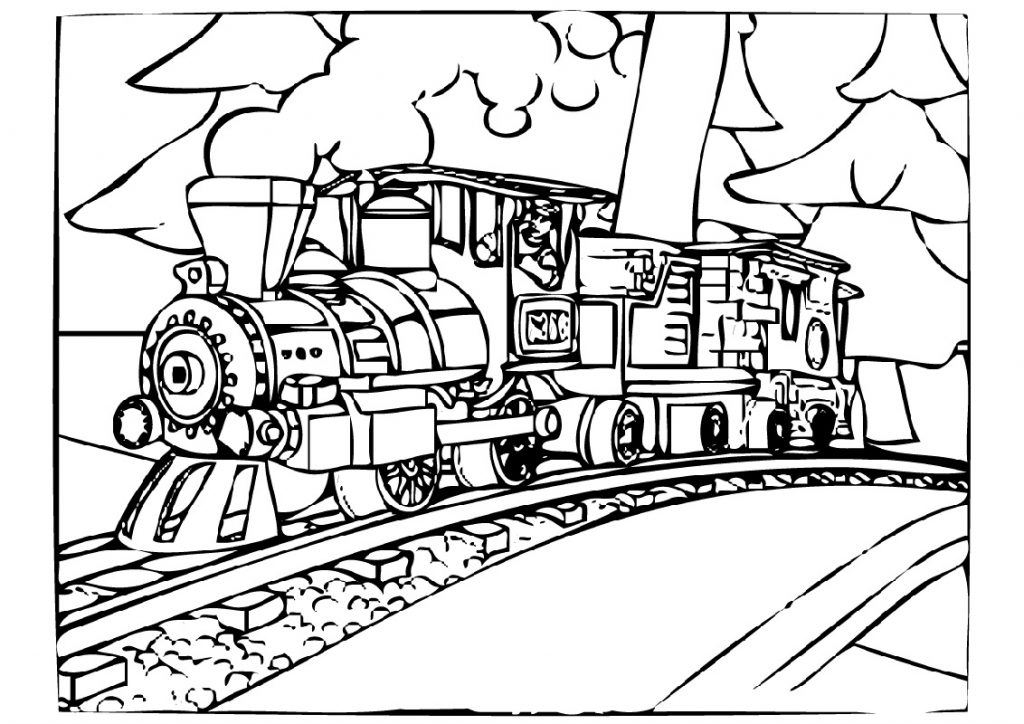 Polar Express Coloring Pages Train