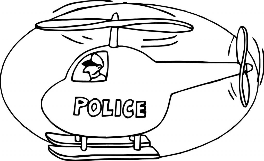 Police Helicopter Coloring Pages