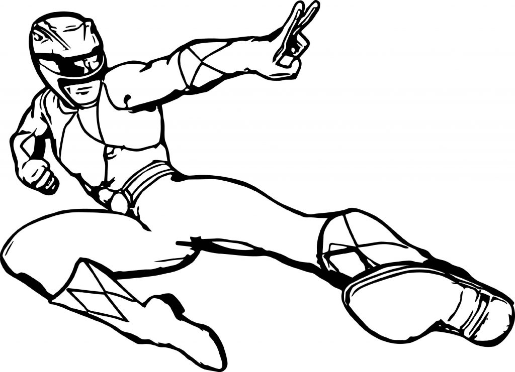 Power Rangers Coloring Pages Battle