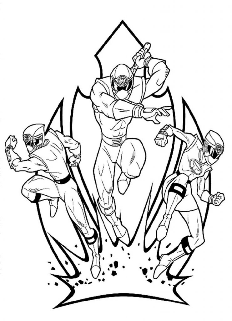 Power Rangers Coloring Pages Samurai