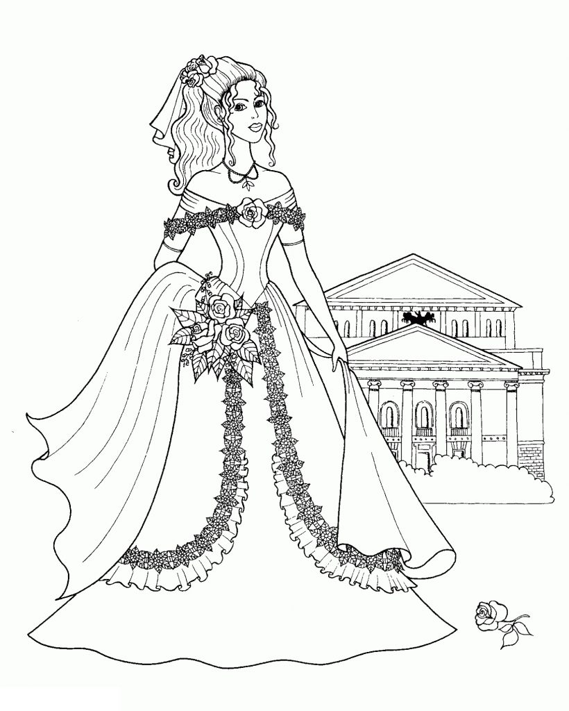 Princess Coloring For Girls