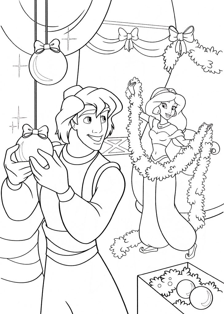 Princess Jasmine Coloring Pages And Aladdin