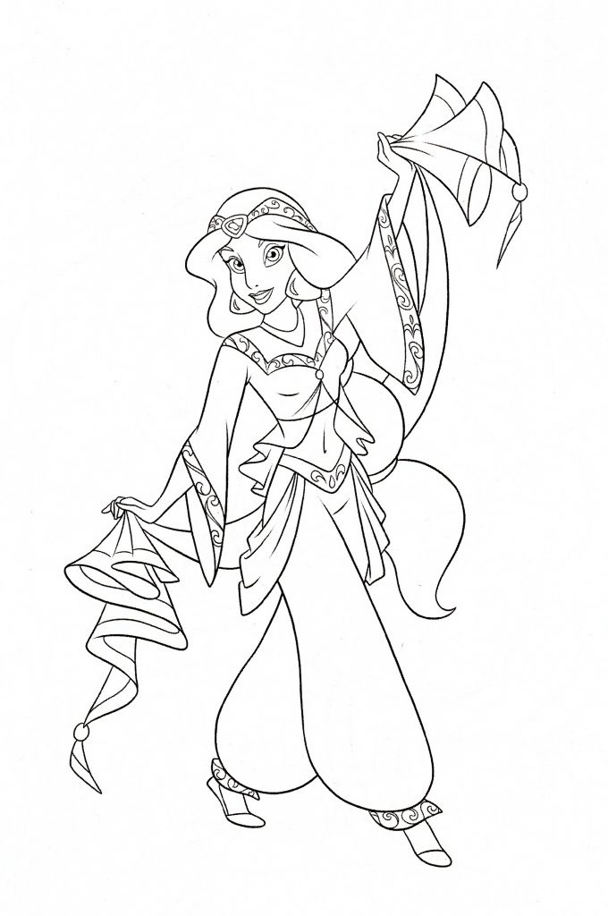Princess Jasmine Coloring Pages Disney