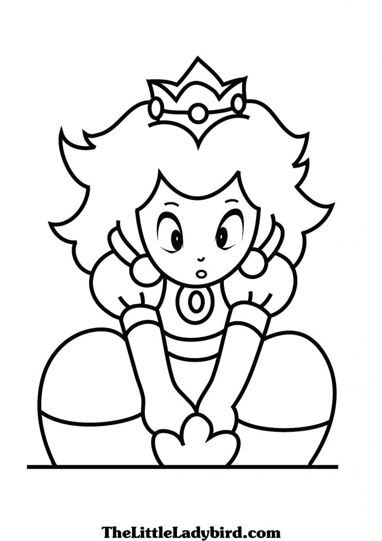 Princess Peach Coloring Pages Free