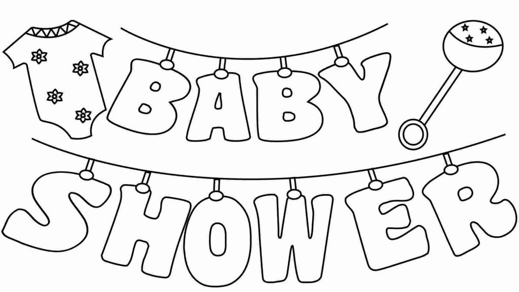 Printable Baby Shower Coloring Pages