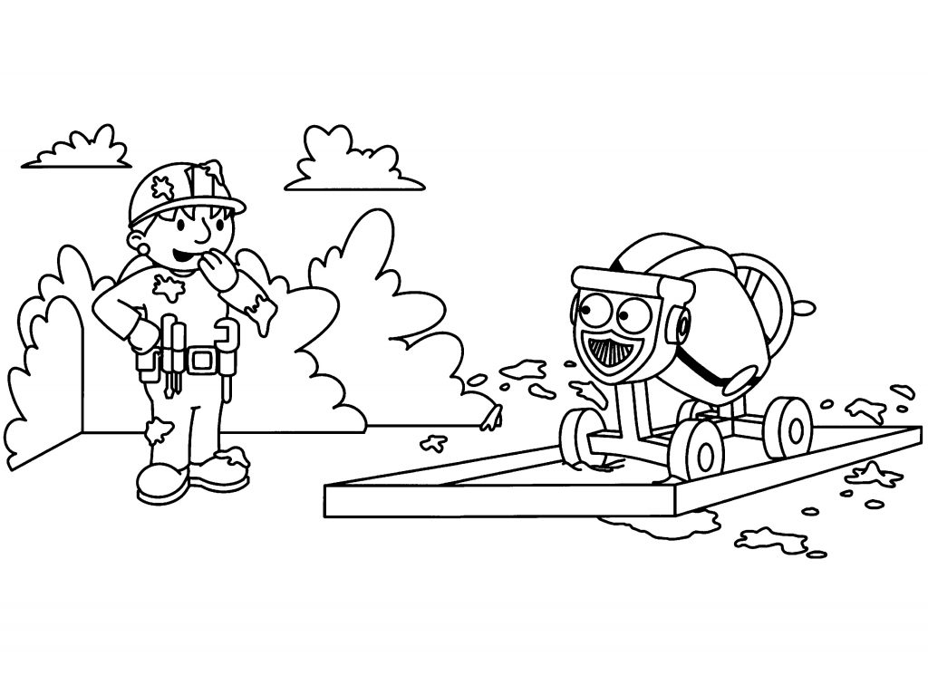 Printable Bob The Builder Coloring Pages