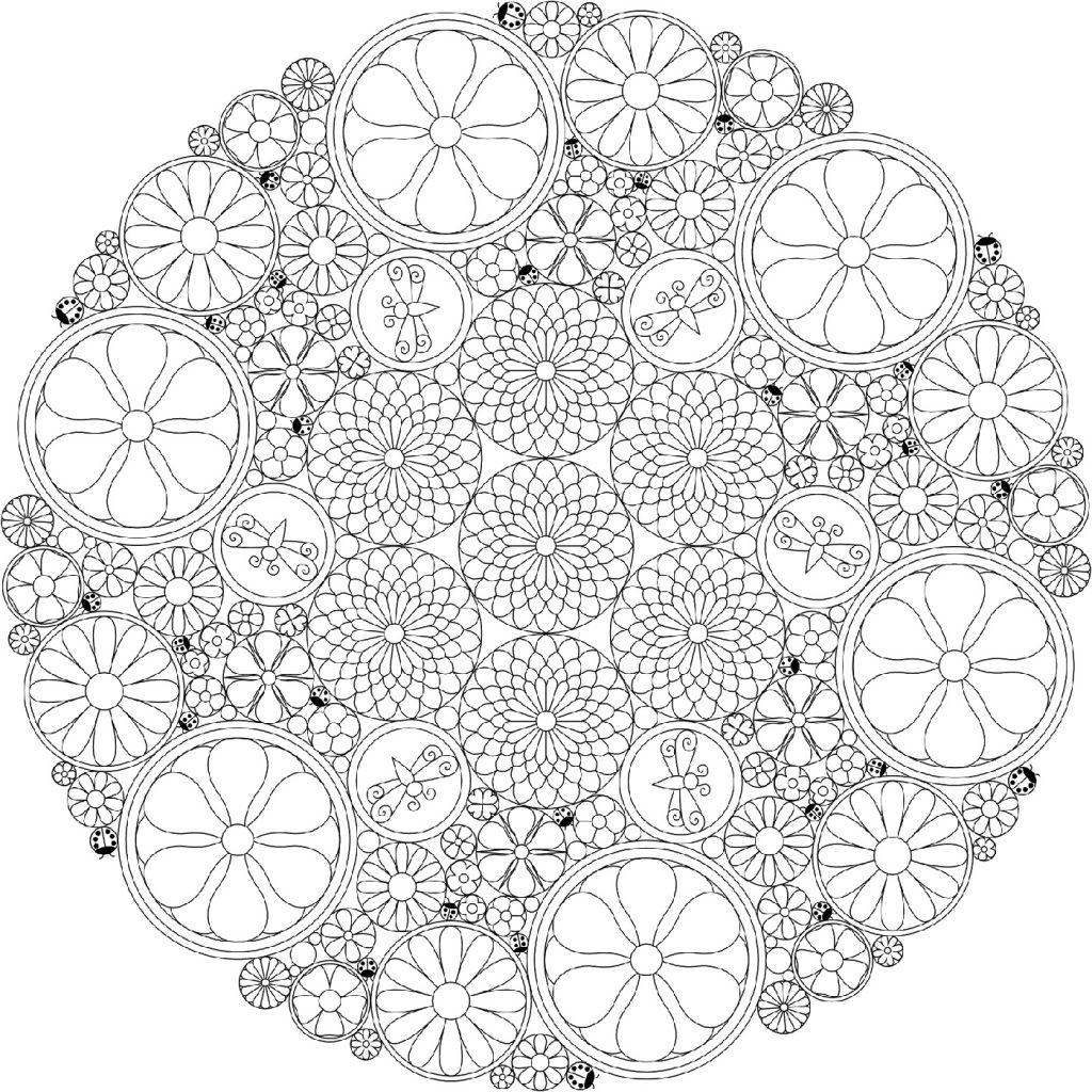 Printable Coloring Pages Circle